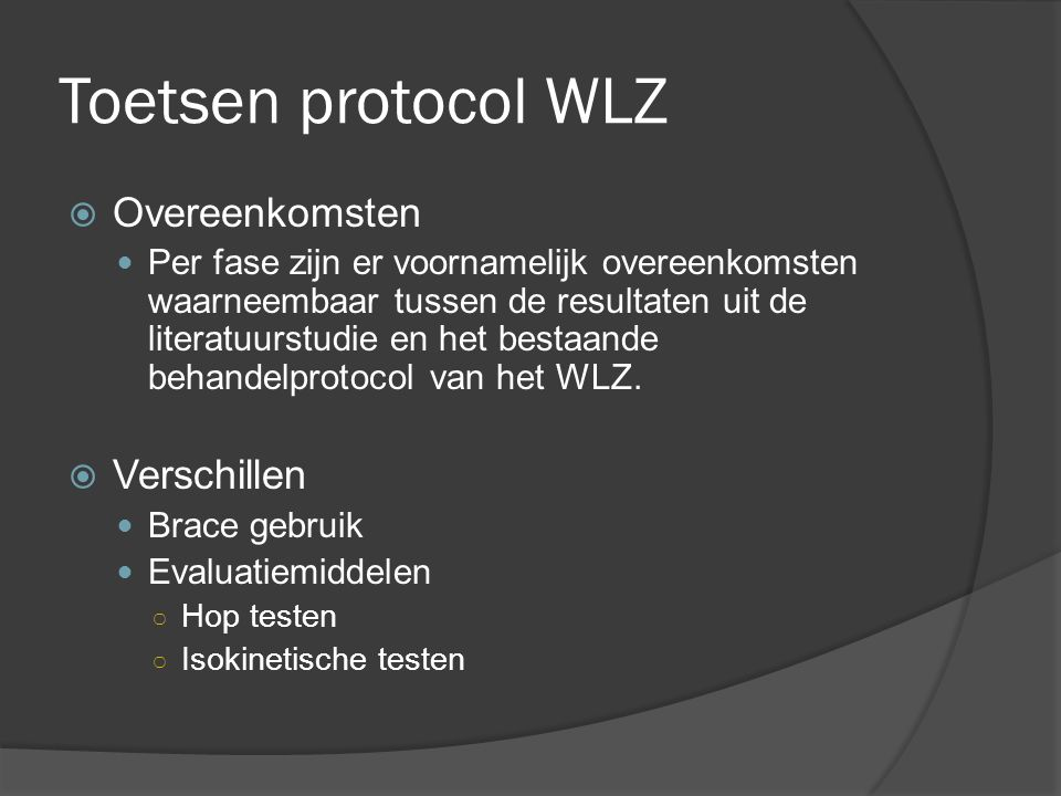 Toetsen protocol WLZ Overeenkomsten Verschillen