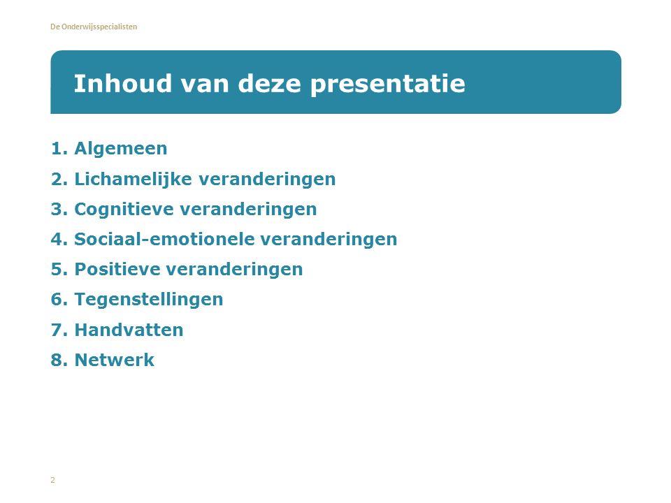 Inhoud van deze presentatie