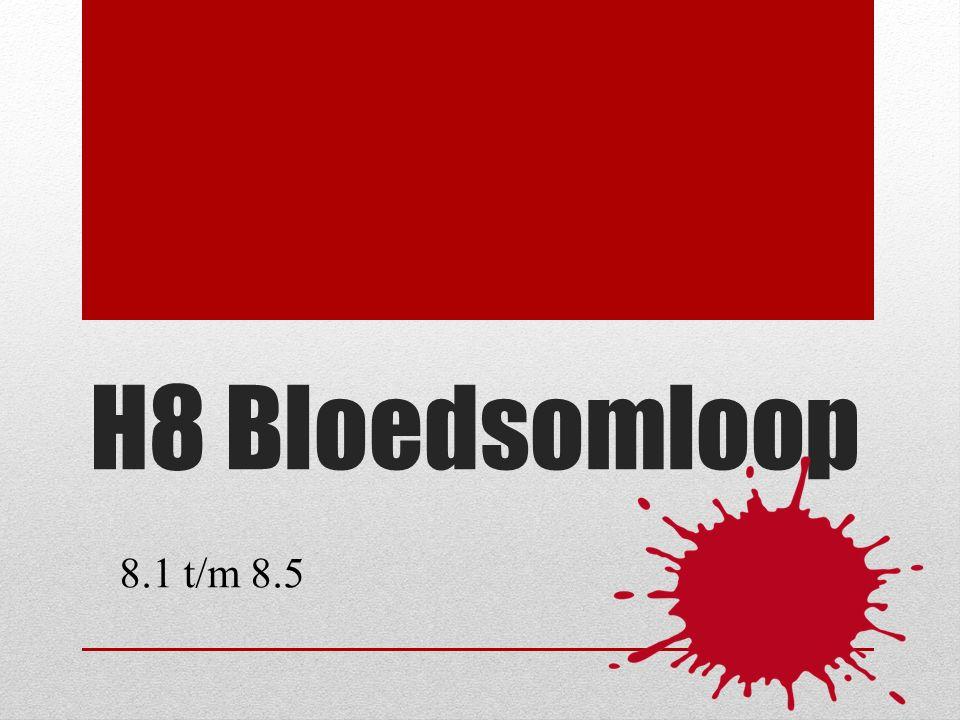 H8 Bloedsomloop 8.1 t/m 8.5
