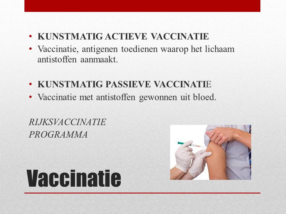 Vaccinatie KUNSTMATIG ACTIEVE VACCINATIE