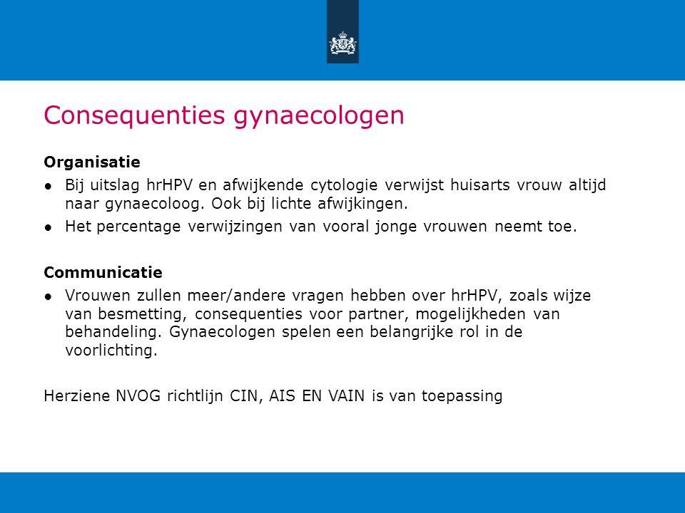 Consequenties gynaecologen