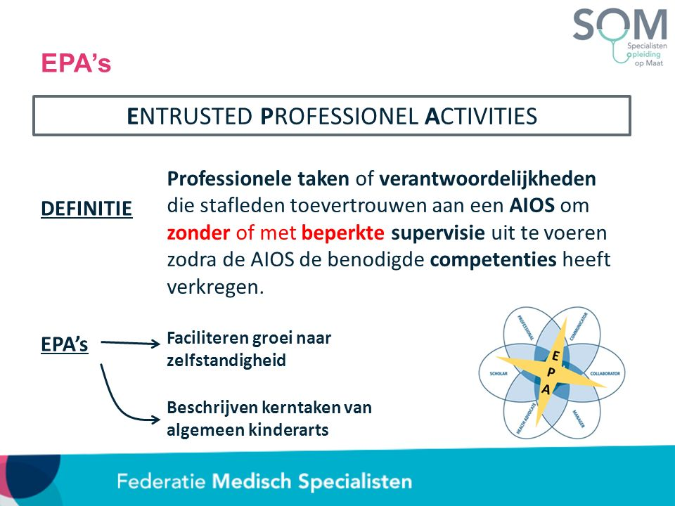 ENTRUSTED PROFESSIONEL ACTIVITIES