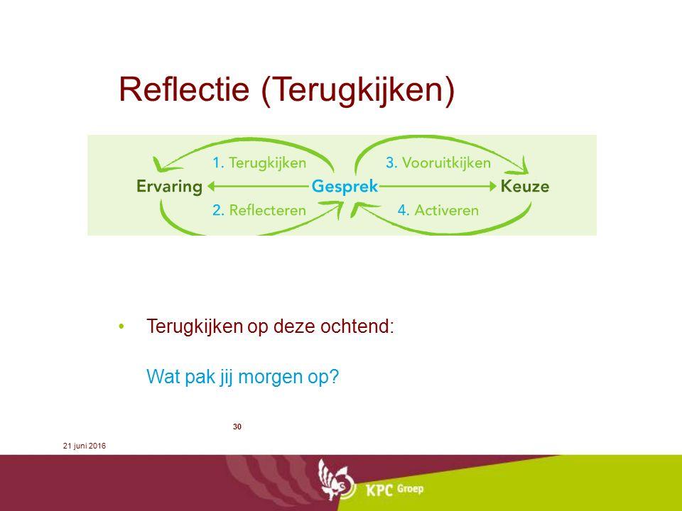 Reflectie (Terugkijken)