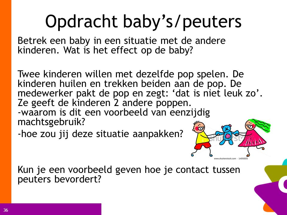 Opdracht baby's/peuters