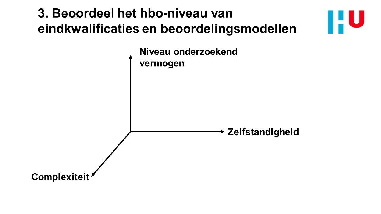 3. Beoordeel het hbo-niveau van eindkwalificaties en beoordelingsmodellen