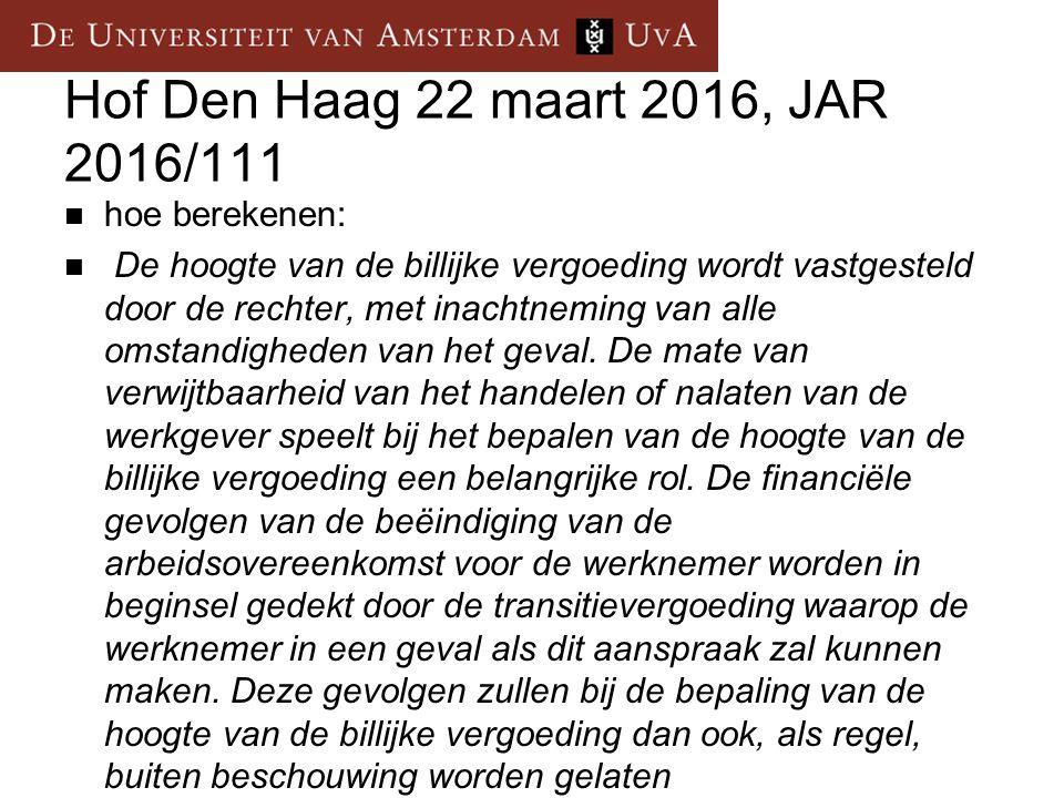 Hof Den Haag 22 maart 2016, JAR 2016/111 hoe berekenen: