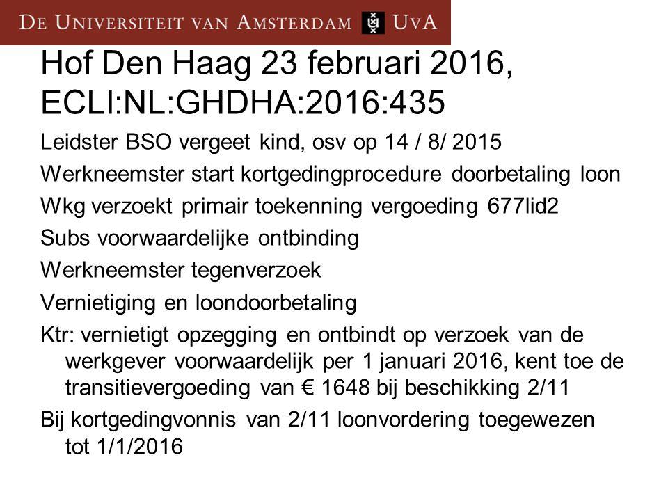 Hof Den Haag 23 februari 2016, ECLI:NL:GHDHA:2016:435