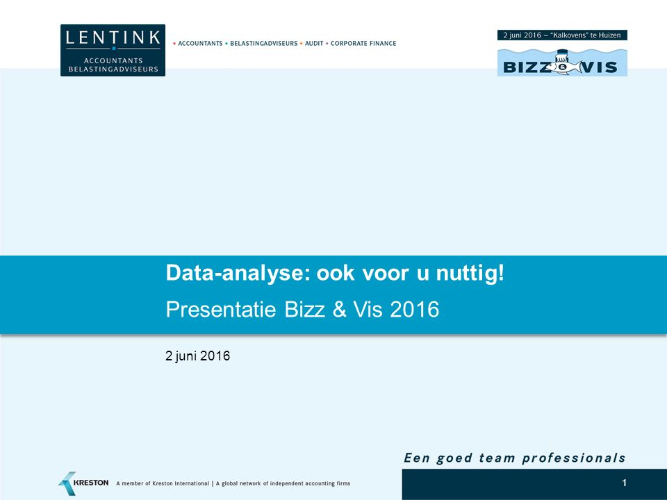Data-analyse: ook voor u nuttig!