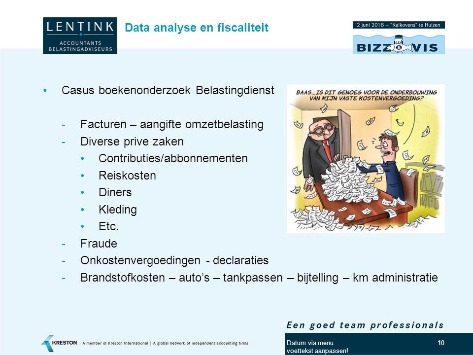 Data analyse en fiscaliteit
