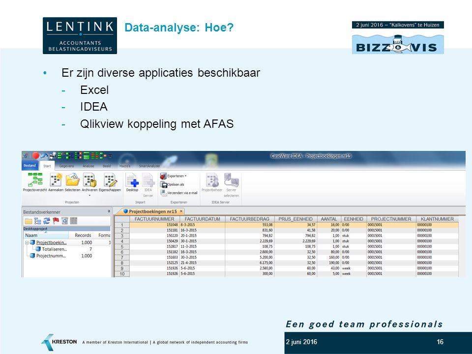 Er zijn diverse applicaties beschikbaar Excel IDEA