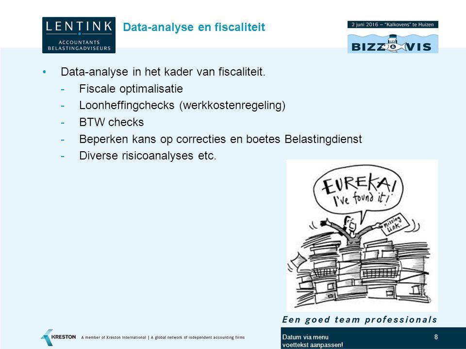 Data-analyse en fiscaliteit