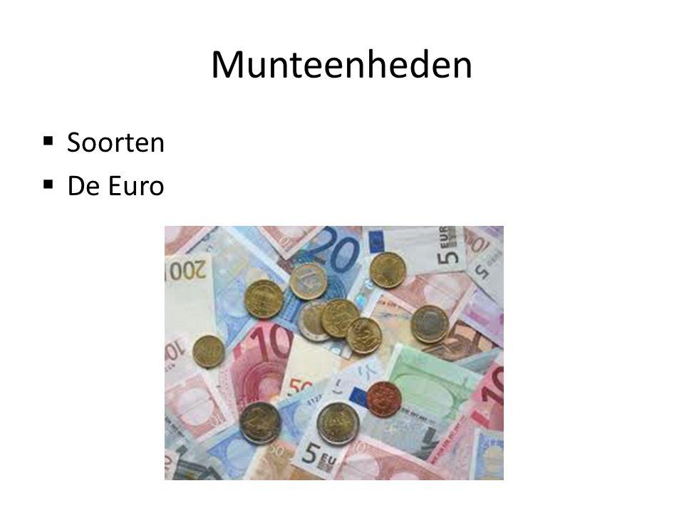 Munteenheden Soorten De Euro