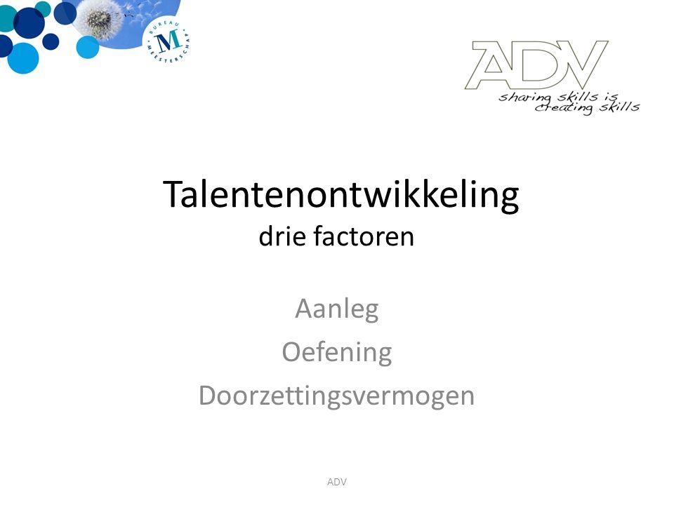 Talentenontwikkeling drie factoren