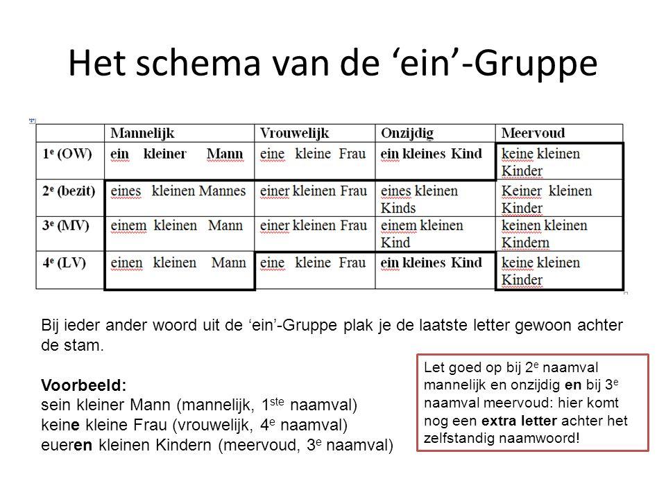 Het schema van de 'ein'-Gruppe