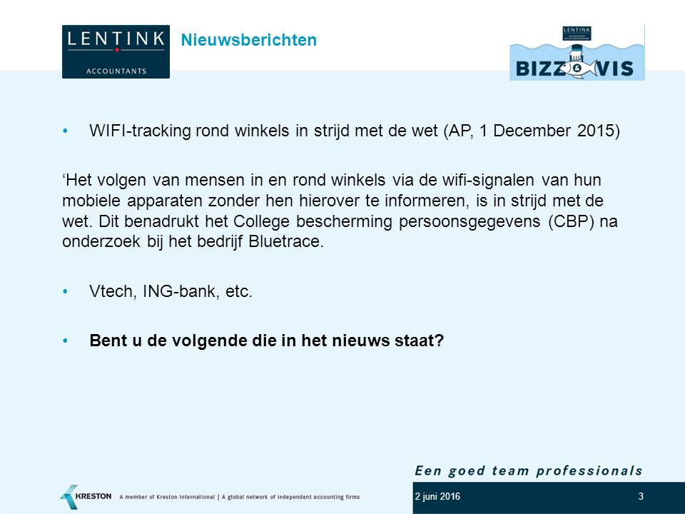 WIFI-tracking rond winkels in strijd met de wet (AP, 1 December 2015)