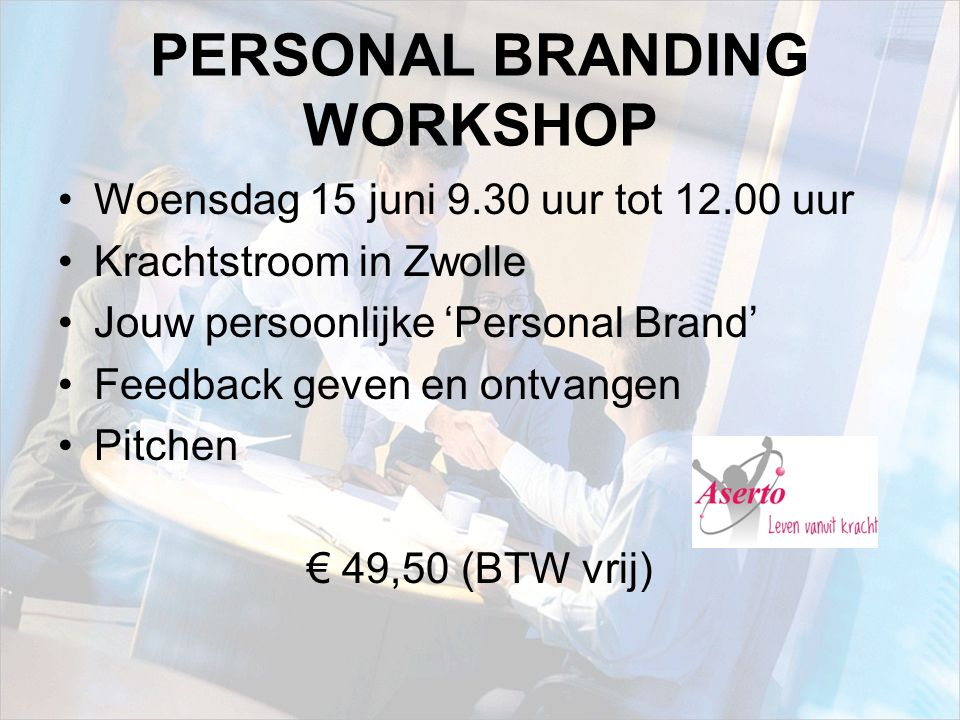 PERSONAL BRANDING WORKSHOP