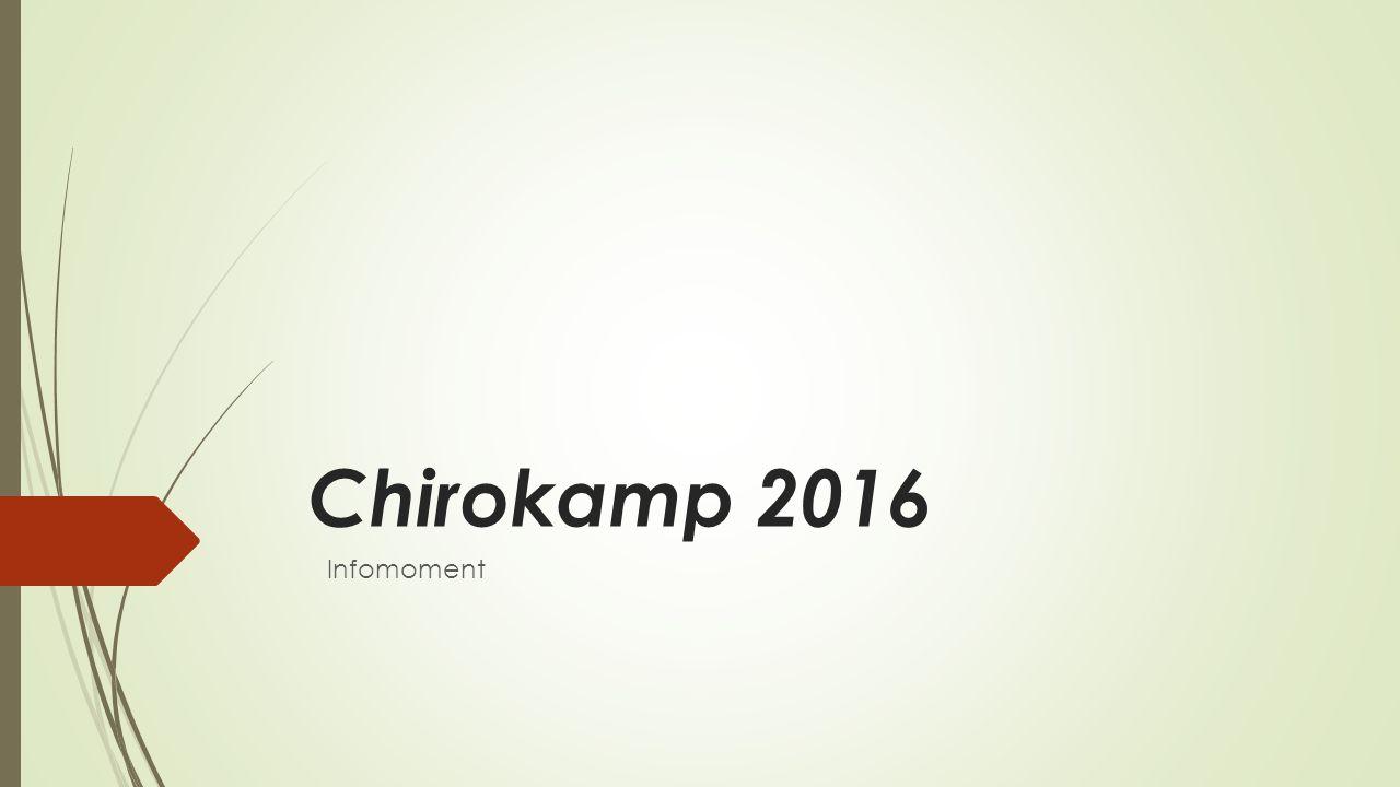 Chirokamp 2016 Infomoment