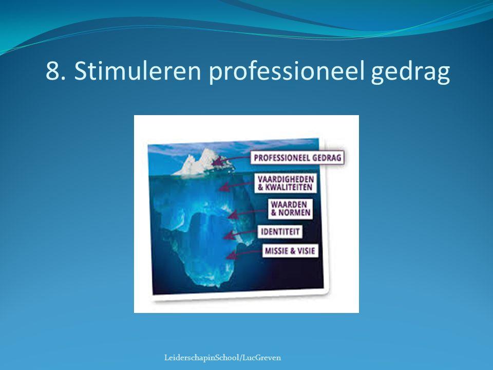 8. Stimuleren professioneel gedrag