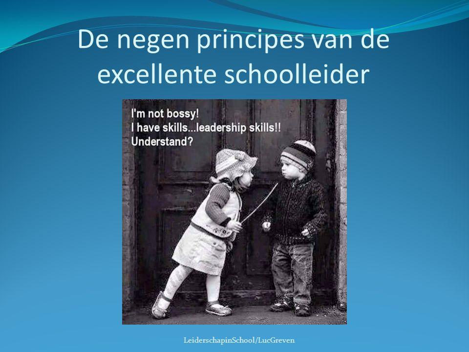 De negen principes van de excellente schoolleider