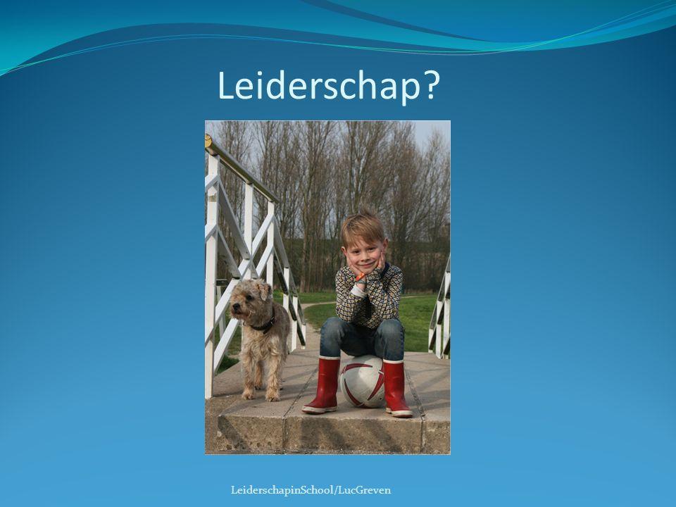 Leiderschap Leiderschap en management: toekomst/heden, strategie langere termijn/dagelijkse gang van zaken,