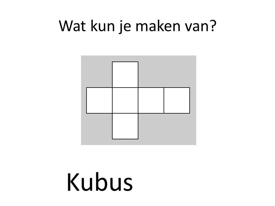 Wat kun je maken van Kubus
