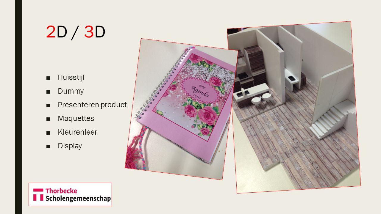 2D / 3D Huisstijl Dummy Presenteren product Maquettes Kleurenleer