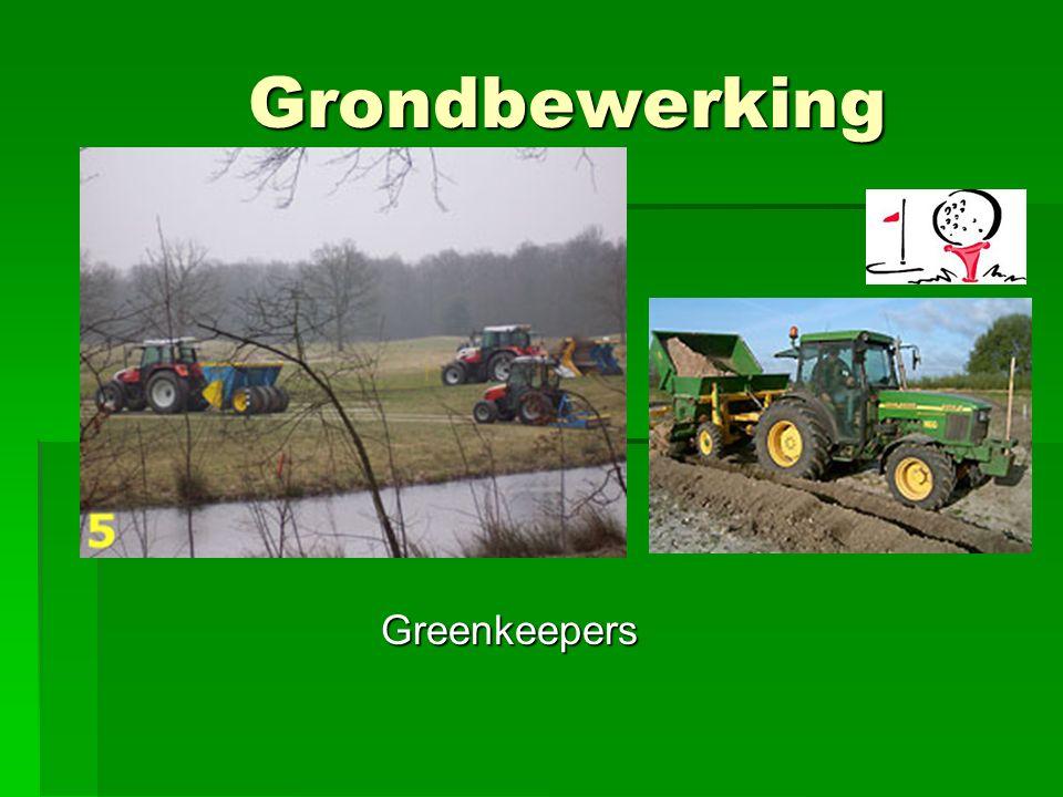 Grondbewerking Greenkeepers