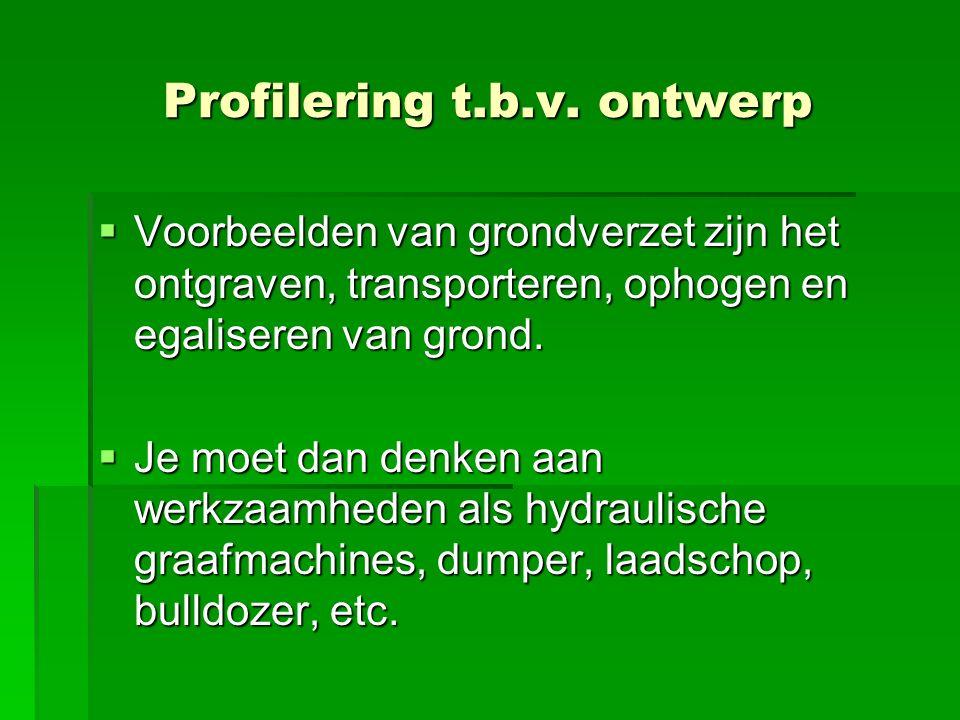 Profilering t.b.v. ontwerp