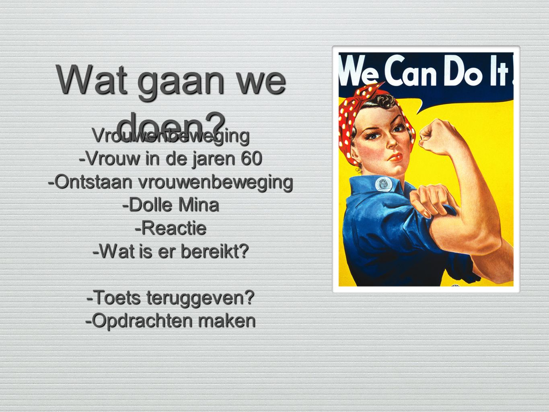 -Ontstaan vrouwenbeweging