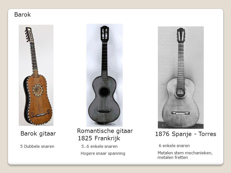 Barok Romantische gitaar Barok gitaar 1876 Spanje - Torres