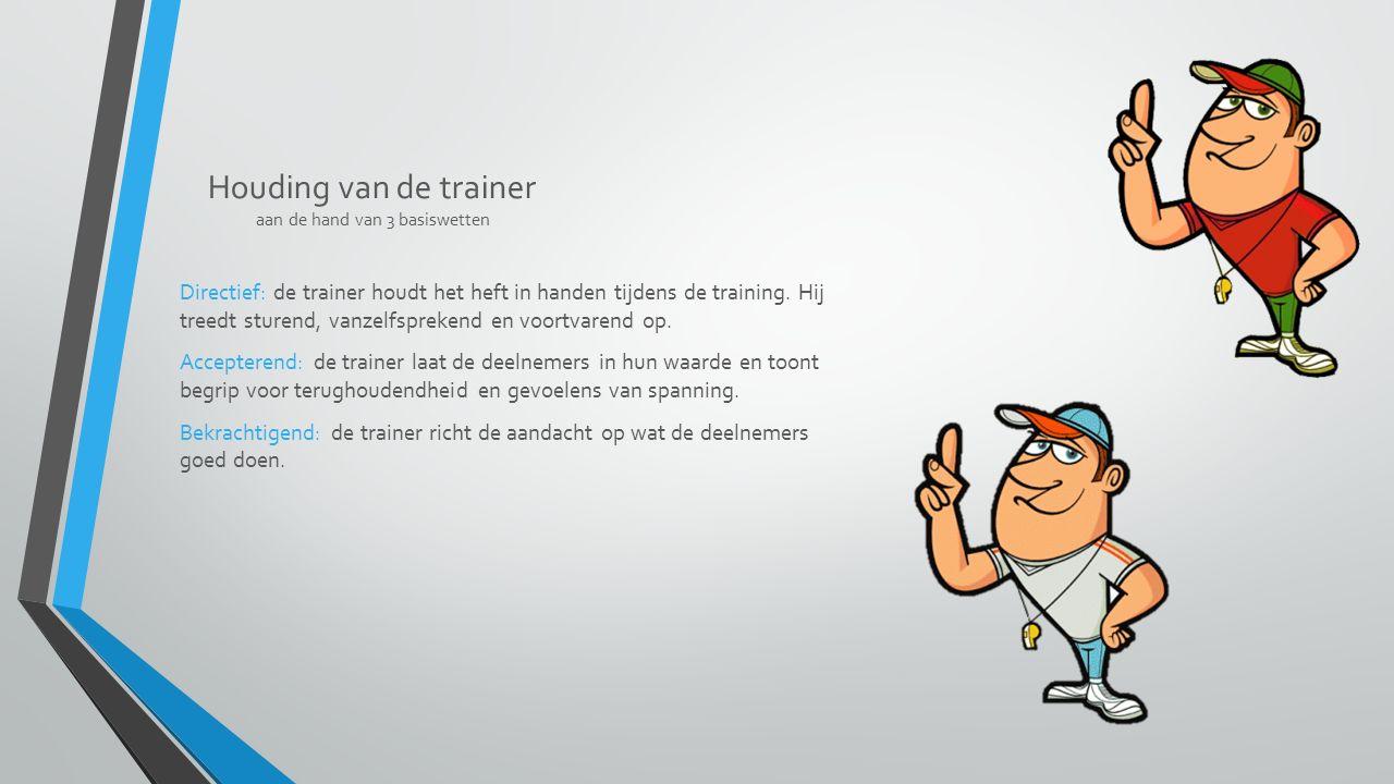 Houding van de trainer aan de hand van 3 basiswetten