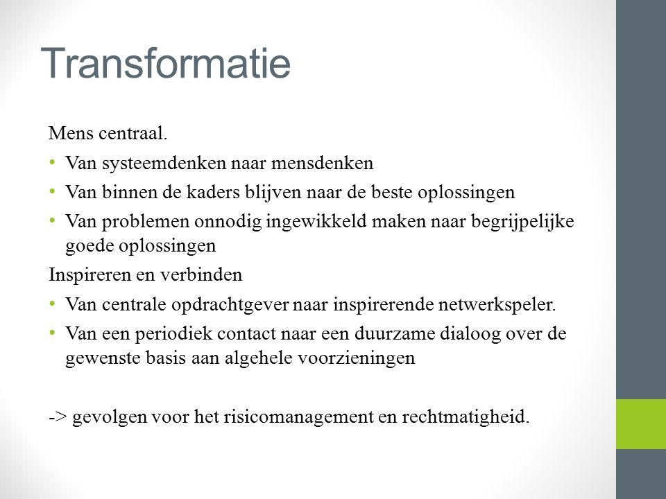 Transformatie Mens centraal. Van systeemdenken naar mensdenken