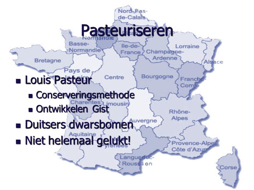 Pasteuriseren Louis Pasteur Duitsers dwarsbomen Niet helemaal gelukt!