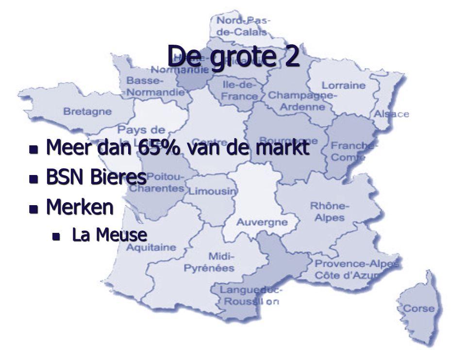 De grote 2 Meer dan 65% van de markt BSN Bieres Merken La Meuse
