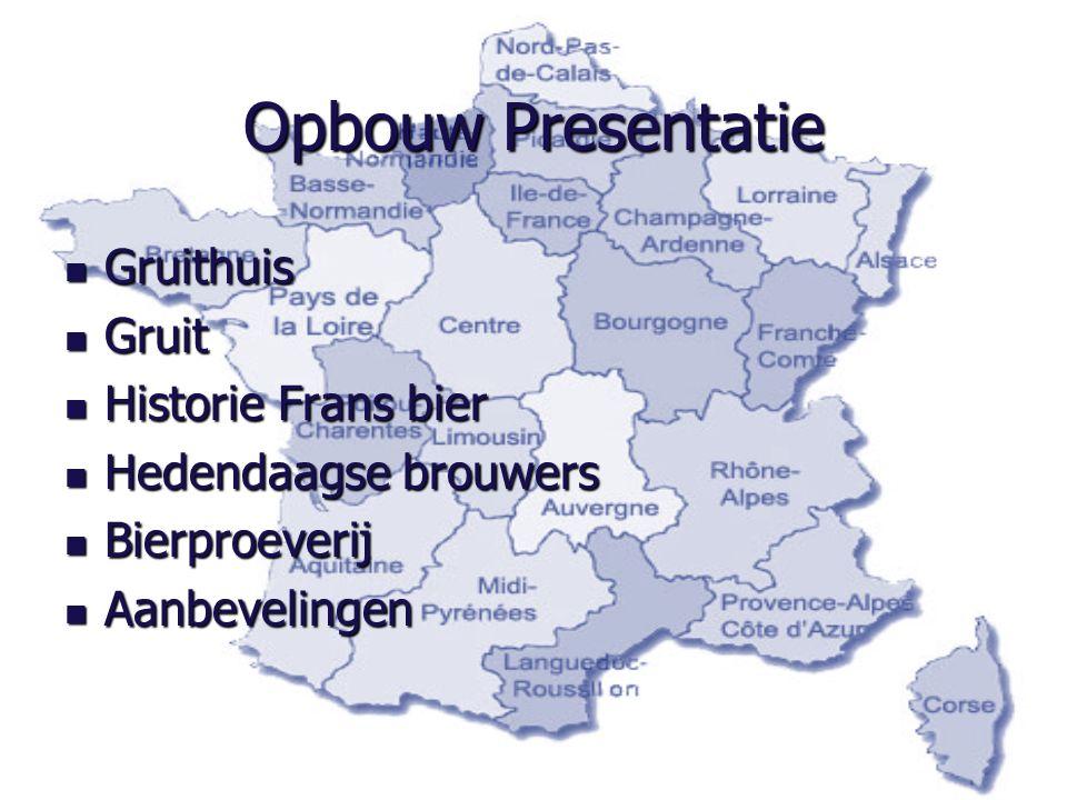 Opbouw Presentatie Gruithuis Gruit Historie Frans bier