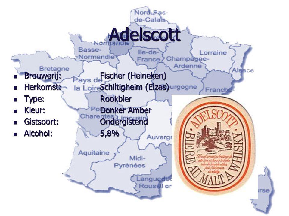 Adelscott Brouwerij: Fischer (Heineken) Herkomst: Schiltigheim (Elzas)