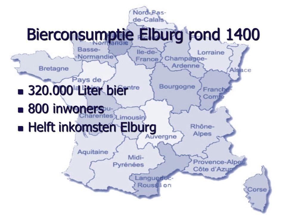 Bierconsumptie Elburg rond 1400