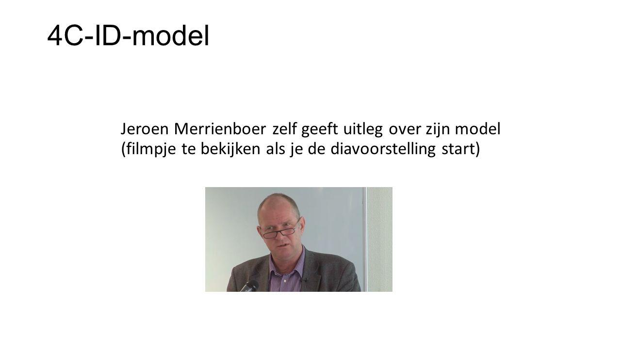 4C-ID-model Jeroen Merrienboer zelf geeft uitleg over zijn model (filmpje te bekijken als je de diavoorstelling start)