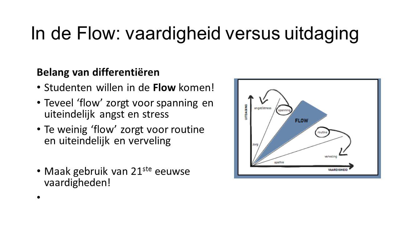 In de Flow: vaardigheid versus uitdaging