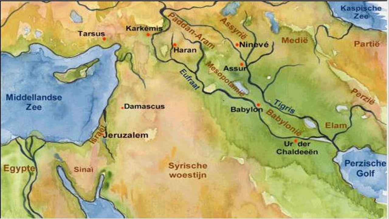 Hoe het begon. Reis van Abraham, Ur – Haran – Egypte – Jeruzalem Pikte overal DNA op