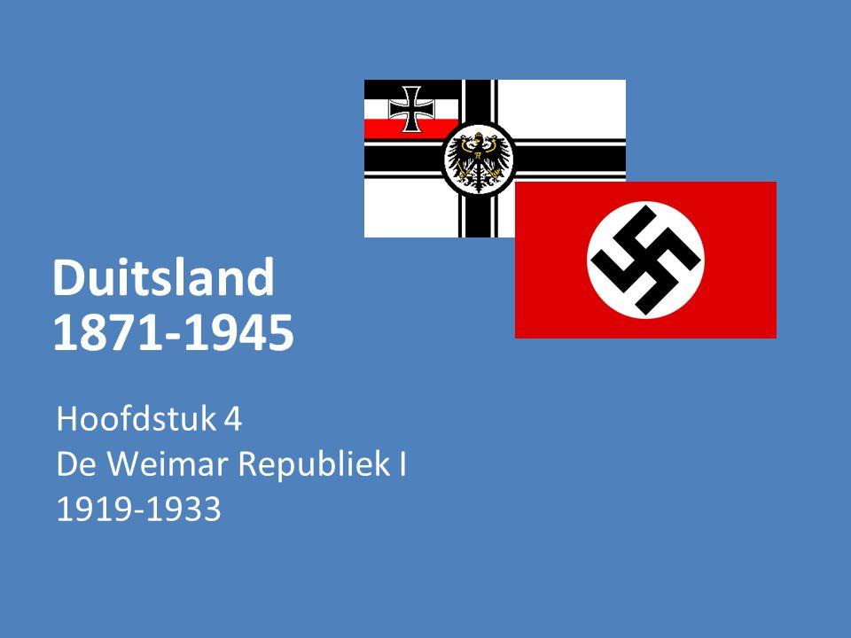 Hoofdstuk 4 De Weimar Republiek I 1919-1933