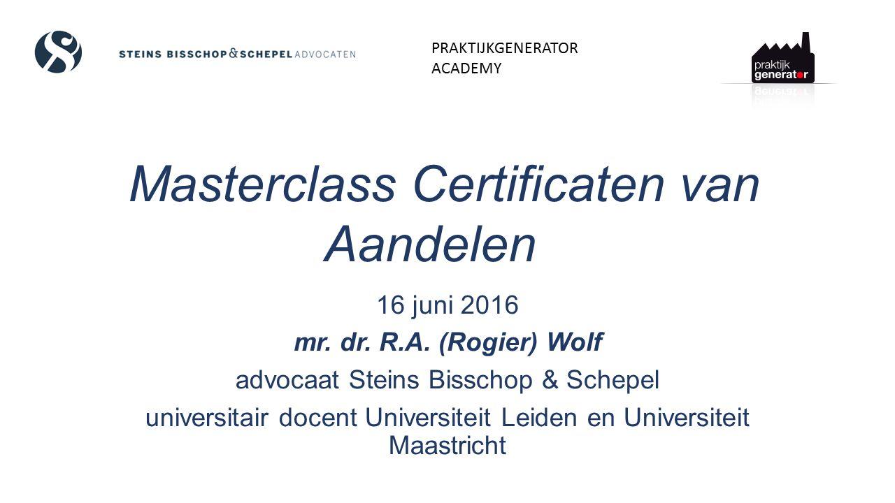 Masterclass Certificaten van Aandelen