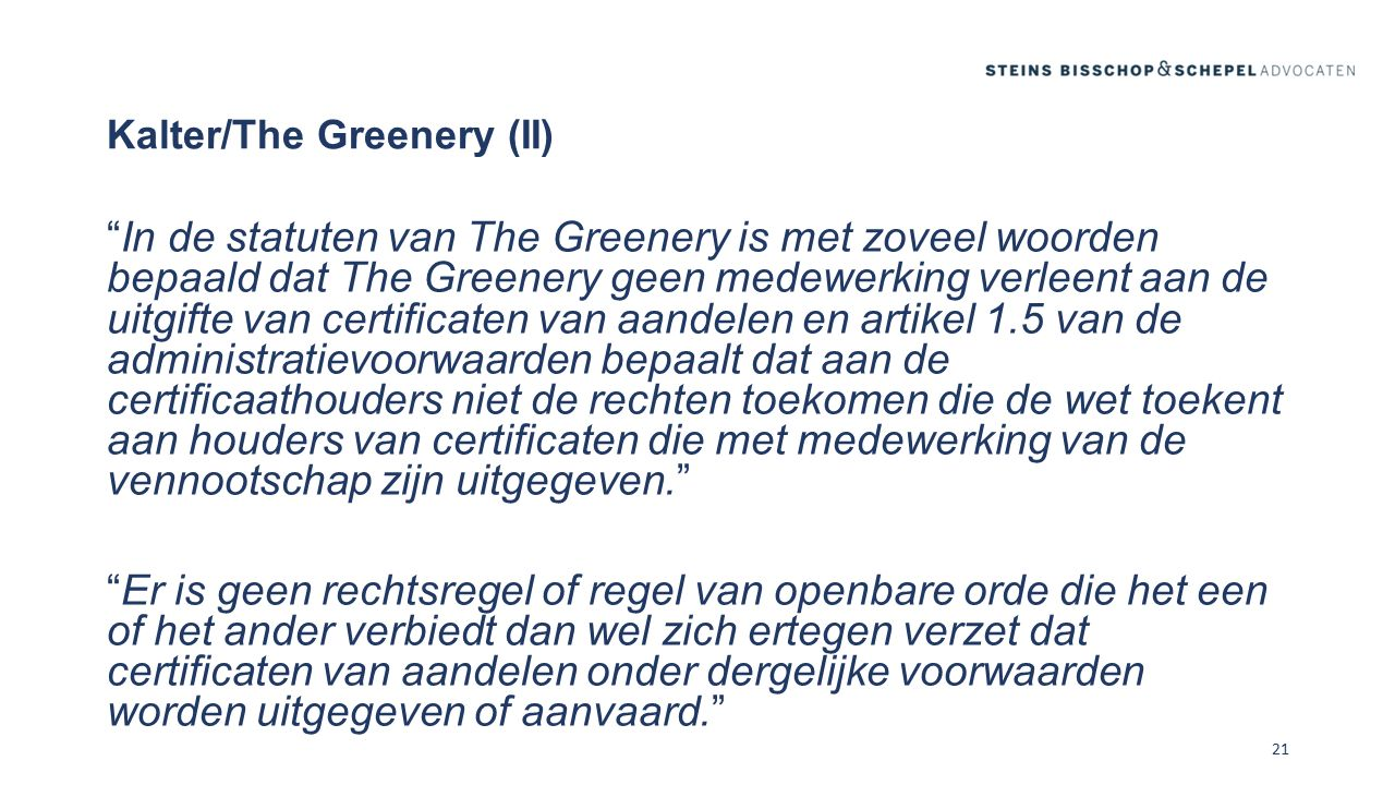 Kalter/The Greenery (II)