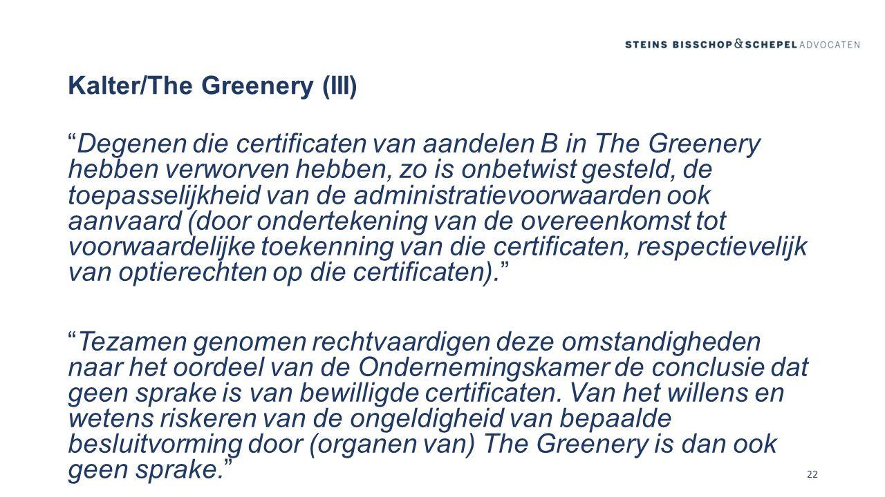 Kalter/The Greenery (III)