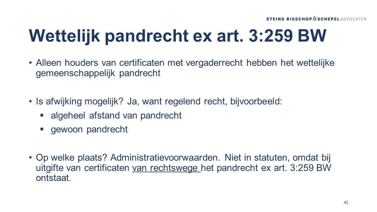Wettelijk pandrecht ex art. 3:259 BW