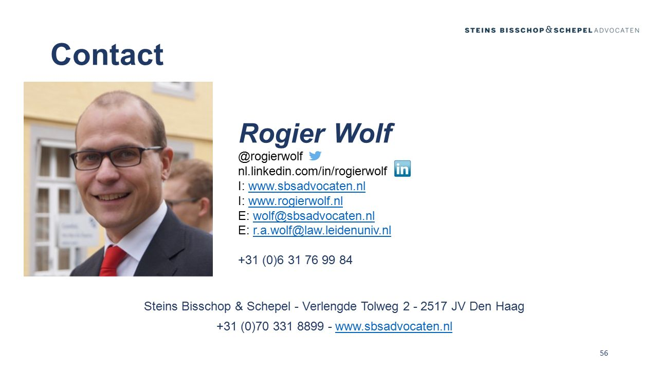 Contact Rogier Wolf @rogierwolf nl.linkedin.com/in/rogierwolf