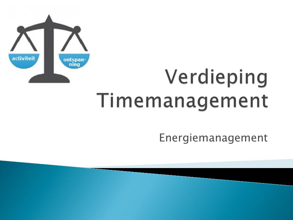 Verdieping Timemanagement