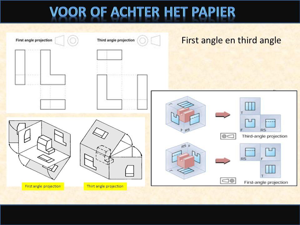 Voor of achter het papier