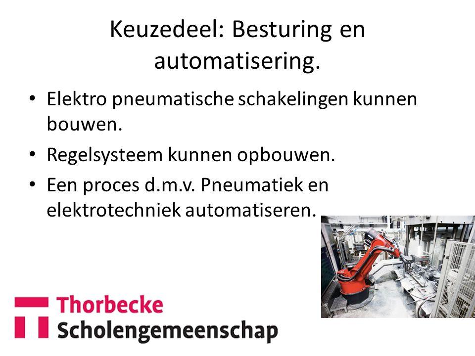 Keuzedeel: Besturing en automatisering.