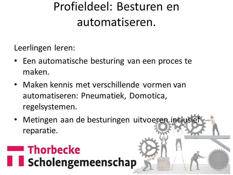 Profieldeel: Besturen en automatiseren.